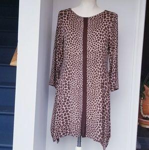 Soft Surrounding Giraffe Print Tunic Dress